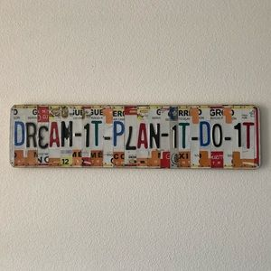 Dream It, Plan It, Do It Wall Art